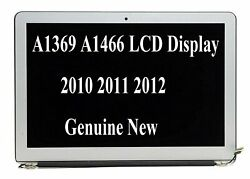 Silver 13.3 Lcd Display Screen Assembly Macbook Air A1369 A1466 2010 2011 2012