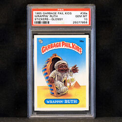 1985 Garbage Pail Kids Os1 🔥 Wrappin Ruth 36a Glossy 🔥 Psa 10 - Pop 14