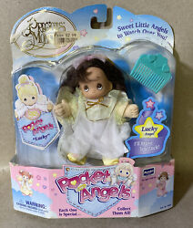 Vintage 1997 Rose Art Precious Moments Pocket Angels Lucky Angel Doll - Rare