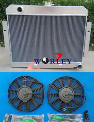 3 Core Aluminum Radiator And Fans 72-86 For Jeep Cj Gm Chevy Config Conversion 73