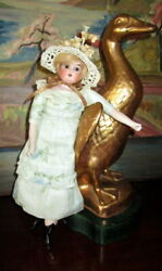 Antiquen Bisque Doll Marked Lilly 15/0,glass Eyes / Made In Germany