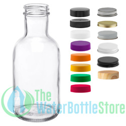 16 Oz Stout Reusable Clear Glass Water Bottle Drinking Small New Minimalist Best