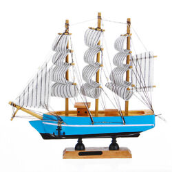 21cm Wood Sailing Boat Ship Model Building Wooden Craft Sailor Handcrafted Toy