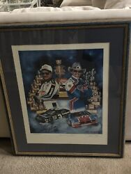 Seven And Seven Dale Earnhardt And Richard Petty Nascar Poster