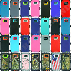 Wholesale Lot For Samsung Galaxy S7 Edge Hard Rugged Case Cover With Belt Clip
