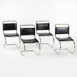 1970s Set Of 4 Mies Van Der Rohe Mr10 Catilever Dining Side Chairs Knoll Thonet