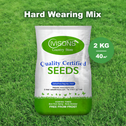 2kg Super Hard Wearing Grass Seed Front And Back Lawn Premium Durable Garden
