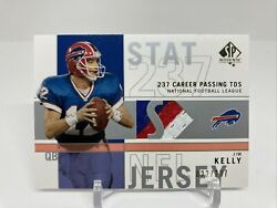 2001 Sp Authentic Jim Kelly 3 Color Game Used Jersey Relic /237 Rare Bills