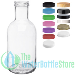 32 Oz Stout Reusable Clear Glass Water Bottle Drinking Small New Minimalist Best