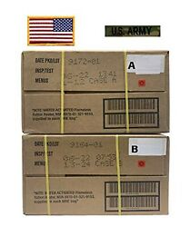 Mre, Military A And B Cases With American Flag Patch And Mc Us Army Tape – 06/2...