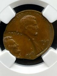 1969 D Ngc Au58 Double Struck Double Date Lincoln Cent Error Amazing Eye Appeal