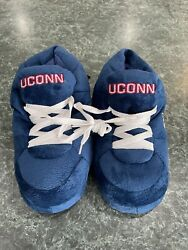 Comfy Feet Unisex Ncaa Sneaker Slippers Uconn Huskies Size Small Brand New