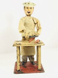 """Ferdinand Fernand Martin """" The Little Cook"""" French Made Antique Windup Toy"""