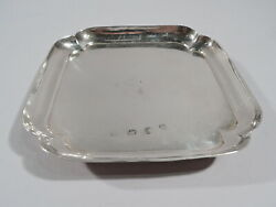 George I Salver - Antique Georgian Square Tray - English Sterling Silver 1726