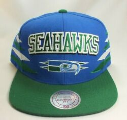 Seattle Seahawks Nfl Mitchell And Ness Vintage 90's Authentic Snapback Hat Cap