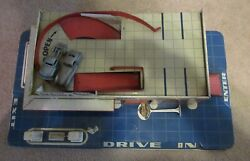Sears Gas Station Allstate Tin Toy Play Set