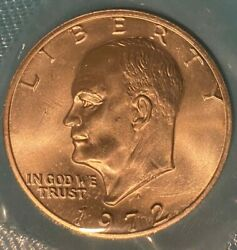 1972-s Brilliant Uncirculated 40 Silver Eisenhower Dollar Coin I16