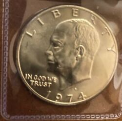 1974-s Brilliant Uncirculated 40 Silver Eisenhower Dollar Coin I19