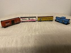Ho Train Lot Of 4 Carts New Haven Gerber Old Dutch Cleanser The Rock