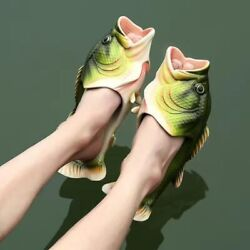 Funny Slippers Family House Shoes Large Size Summer Beach Slippers Fish Slippers