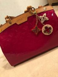 With Charm ☆ Beautiful Goods Louis Vuitton Blair Mm Red Auth Mm4358