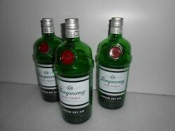 6 X Tanqueray Gin Empty Bottle '' 1 Liter '' Perfect