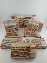 Lot Of Vintage Lego Train Tracks - 7850 7851 7852 7853 7854 - New Old Stock