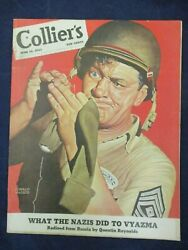 Vintage Collier's Magazine June 19 1943 Service Man Sewing Sock By Ronald Mcleod