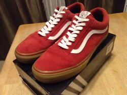 X Golf Wang Syndicate Old Skool Red Gum  Size 11.5