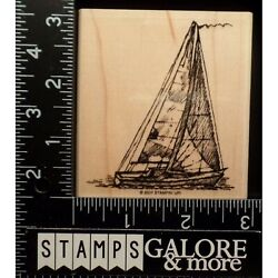Stampin' Up Rubber Stamps 2007 Winds Of Grace Scrooner Nautical Sail Boat
