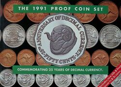 1991 Royal Australian Mint 25 Years Of Decimal Currency Proof Coin Set