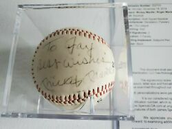 Mickey Mantle And Roger Maris Best Wishes Autographed Signed Baseball Jsa Loa Psa