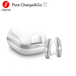 2 Brand New Signia Pure Chargeandgo X 7 / 5 / 3 Hearing Aids + Free Charger