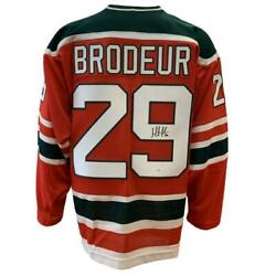 Martin Brodeur New Jersey Devils Autographed Team Classics Ccm Christmas Jersey