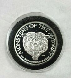 1987 Nfc Central Division Champions Chicago Bears 1 Oz Silver Serial 0007