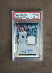 2016-17 Select Christian Pulisic Game Worn Material Auto Card 38/90 Psa 9 Mint