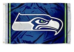 Seattle Seahawks 3x5 FT Flag College Navy Green Gray Football NFL Banner $11.95