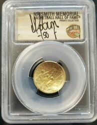 2020 W 5 Pcgs Ms70 Fs David Robinson 50 Hand Signed .999 Gold Medal Pop Only 5