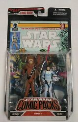 Chewbacca And Han Solo Figure 2-pack Star Wars Comic Packs 2006 Hasbro New Sealed