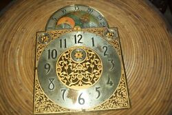 Herschede Grandfather Clock Face 1920and039s For Parts Or Repair