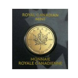 2021 1 Gram Canadian Gold Maples .5 Coin .9999 Fine - Maplegram25andtrade