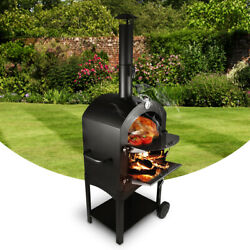 Outdoor Pizza Oven Portable Stove Charcoal Wood Bbq Grill Smoker Family Cooking