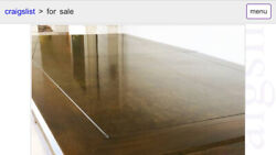 """Cal-mode Mid-century 84"""" Long Dining Table W/ 2 16"""""""" Leaves Total 116"""""""