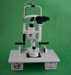Miko Msl-5s/5 Step Slit Lamp Ziess Type With Wooden Base And 220v Power Supply