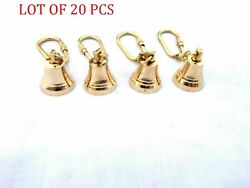 4 Pcs Brass Bell Key Chain Collectible Marine Nautical Key Ring Free Shipping S