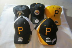 New With Tags Lot Of 5 Pittsburgh Pirates And Steelers Baseball Caps Hats