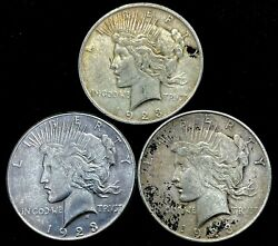 Lot Of 31923 P/d/s Peace Silver Dollar Year Set 90 Eagle Collection Lot. 2