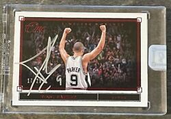 Tony Parker 2019-20 Panini One And One Timeless Moments Autograph Red /25