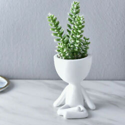 Resin Wall Planters Hanging Flowerpot Wall Decor Small Plant Container for