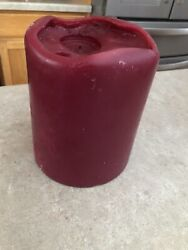 Partylite Cranberry 3 Wick Candle 6 X 8 Now Less Used